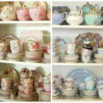 Baby Shower? Vintage Pink & Blue Vintage Bone China Tea Sets