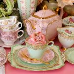 Vintage Dessert Plate & Tea Trio