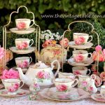 Vintage shabby pink roses