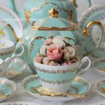Vintage Aqua Tea Trios