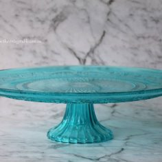 Large Blue Glass Pedestal 32cm diameter | $18