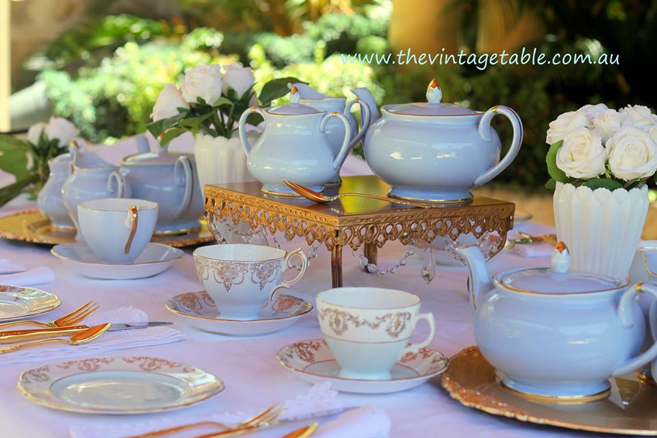 Blue Teapots - The Vintage Table