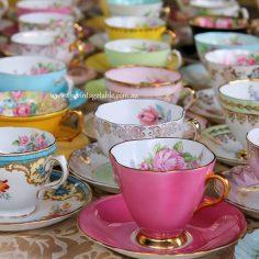 Premium vintage fine bone china tea sets