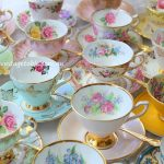 Vintage Tea Duos With Gold Teaspoons
