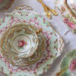 Vintage Dessert Plate & Tea Duo