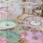 Tiered Vintage Cake Stands ~ Silver Handles $15