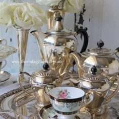 Vintage Silver Tea & Coffee Set with Tray | 8 sets available