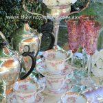 Vintage Silver Tea Set & Fine Bone China Trios