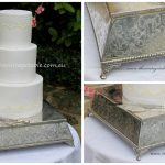 Large Antique 1930s Wedding Cake Stand|Plateau | 40cms diameter top, 46cm base. * See notes below