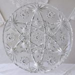 Large Vintage Clear Starburst Serving Plate 30cm - $10