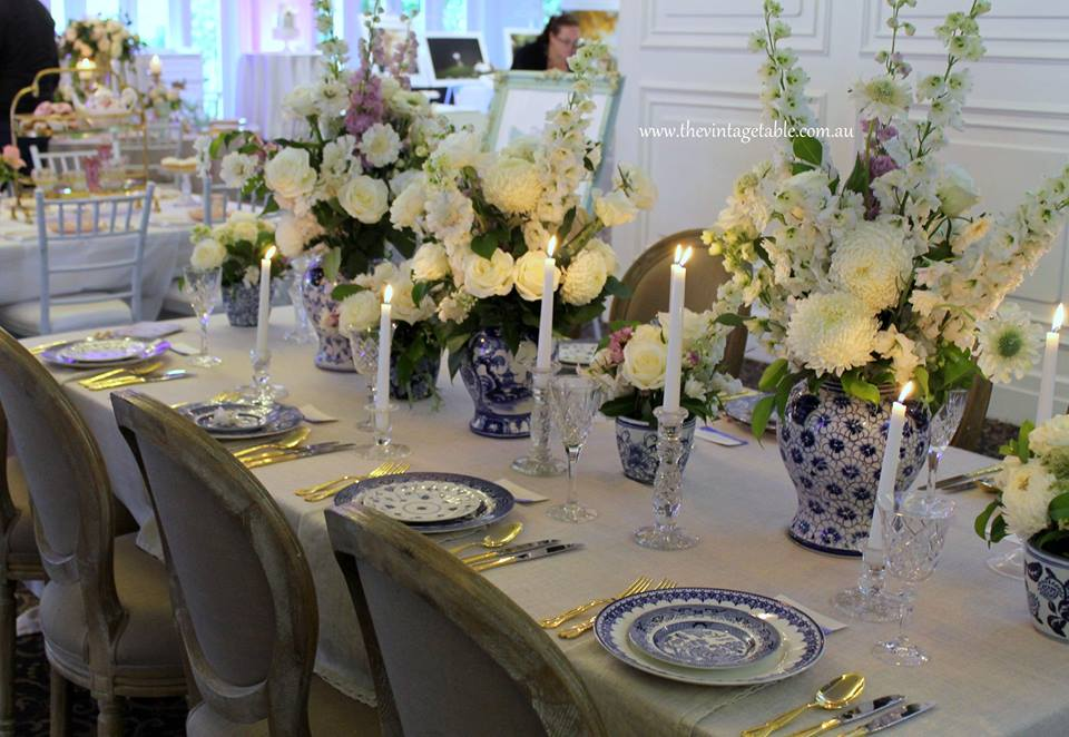 Hamptons Chinoiserie Wedding - The Vintage Table Perth