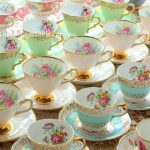 Luxury Vintage Fine Bone English China Tea Cup Sets