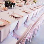 Pink & Gold Luxury High Tea | Pink Entree Plates, Tea sets & gold cutlery from The Vintage Table.  Chairs, linens & Styling Event Artillery