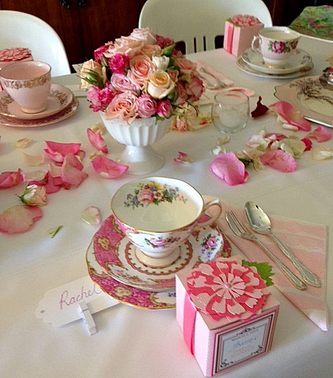 The vintage table vintage china hire events media for Bridal shower kitchen tea ideas