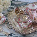 Vintage Floral Trios | Silver Tray & Cutlery