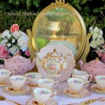 Blush Pink Vintage Tea Set & Free Standing Gilt Mirror ~ Chalk Board