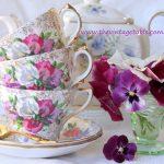 Vintage Floral Tea Trios
