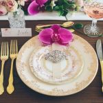 Vintage Dinner Plates & Gold Cutlery