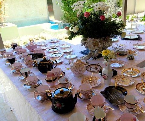 Pink & Black Afternoon Tea