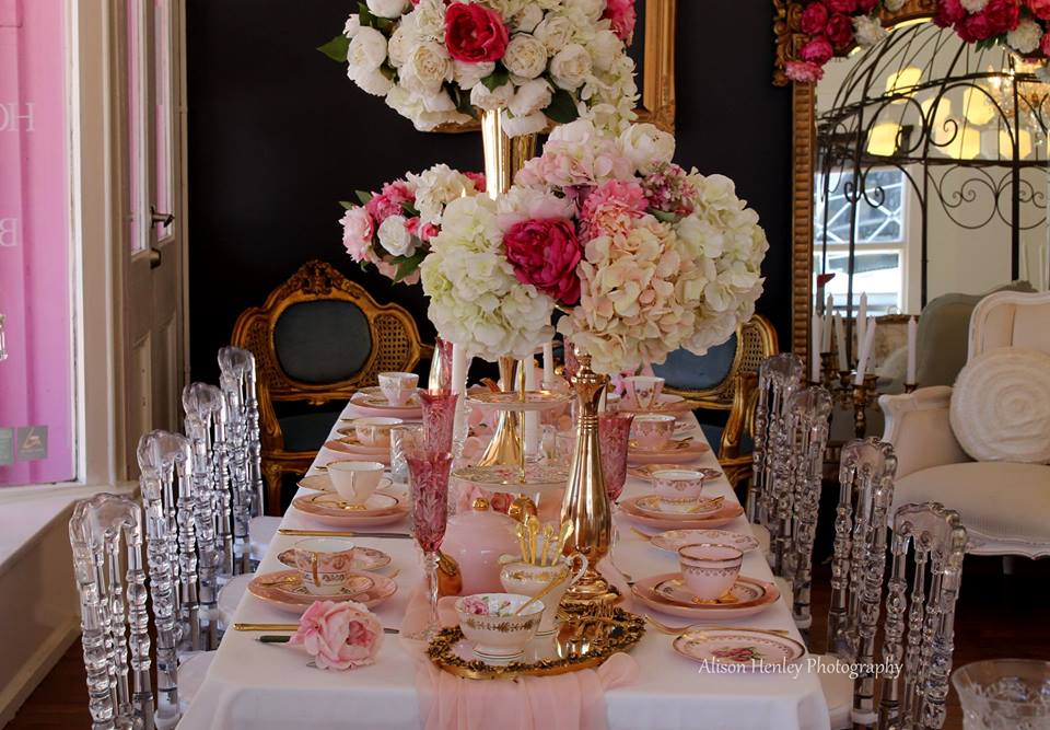 Pink & Gold Luxury High Tea | The Vintage Table Perth