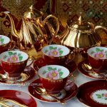 Vintage Red Trios from the Midnight Tea Collection