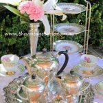 Vintage Silver Tea Set, Tray & Cake Stand