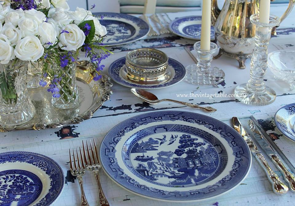 Vintage Chinoiserie Dinner & Side Plates | 100 Sets available for Wedding Summer Season 2017/18.