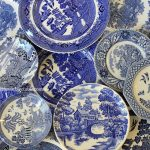 Vintage Chinoiserie - Blue & White Toile Dinner & Side Plates