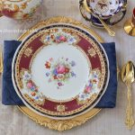 Heirloom Collection Dinner & Entree Plates | Gold Cutlery & Charger