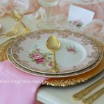 Botanical Collection with Gold Cutlery & Charger