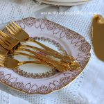 Vintage 24ct Gold Plated Cake Forks | Quantity: 140