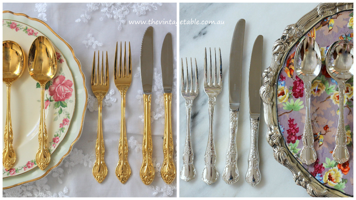 The Vintage Table Vintage Cutlery Hire Perth