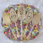 Vintage Ornate Silver Plated Cake Servers