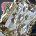 Vintage Art Deco Silver Shell Spoons | Dessert or Cake - Quantity: 50