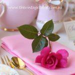 Pink Linen Tea Napkins | 100 Available