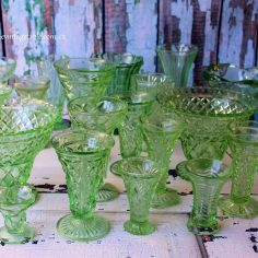 Vintage Green Glass Vases | Qty: 20