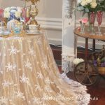 White Bridal Lace Round Table Cloth - Cake or Signing Table - 90 inches - $25 - Qty: 1