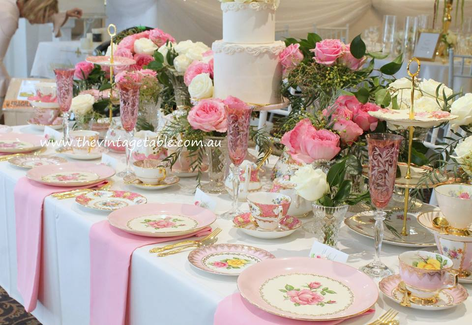 Pink High Tea | The Vintage Table Perth