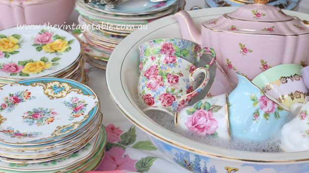 Cleaning Vintage Tea Sets | The Vintage Table Perth