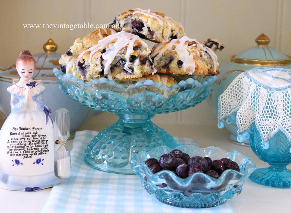 Blueberry and white chocolate scones.