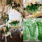 Vintage Green Depression Glass Vases | Qty: 20 | Florals Botanica Naturalis