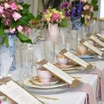 Luxury High Tea Bridal Shower | Pink Teaware, Gold Cutlery from The Vintage Table