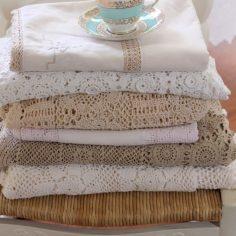 Vintage White & Cream Crochet Tablecloths