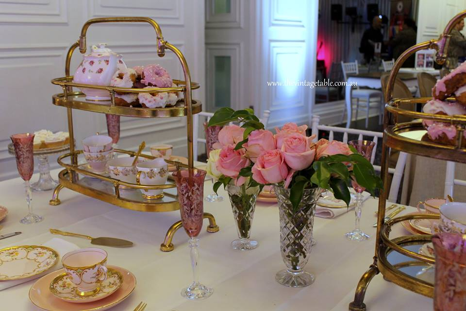 Pink & Gold High Tea Hire | The Vintage Table Perth