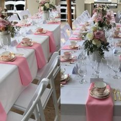 Pink & Gold Luxury High Tea for 40 | Image & styling by client