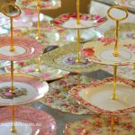 Vintage Three Tier Cake Stands   Gold or Silver Handles   80 Available