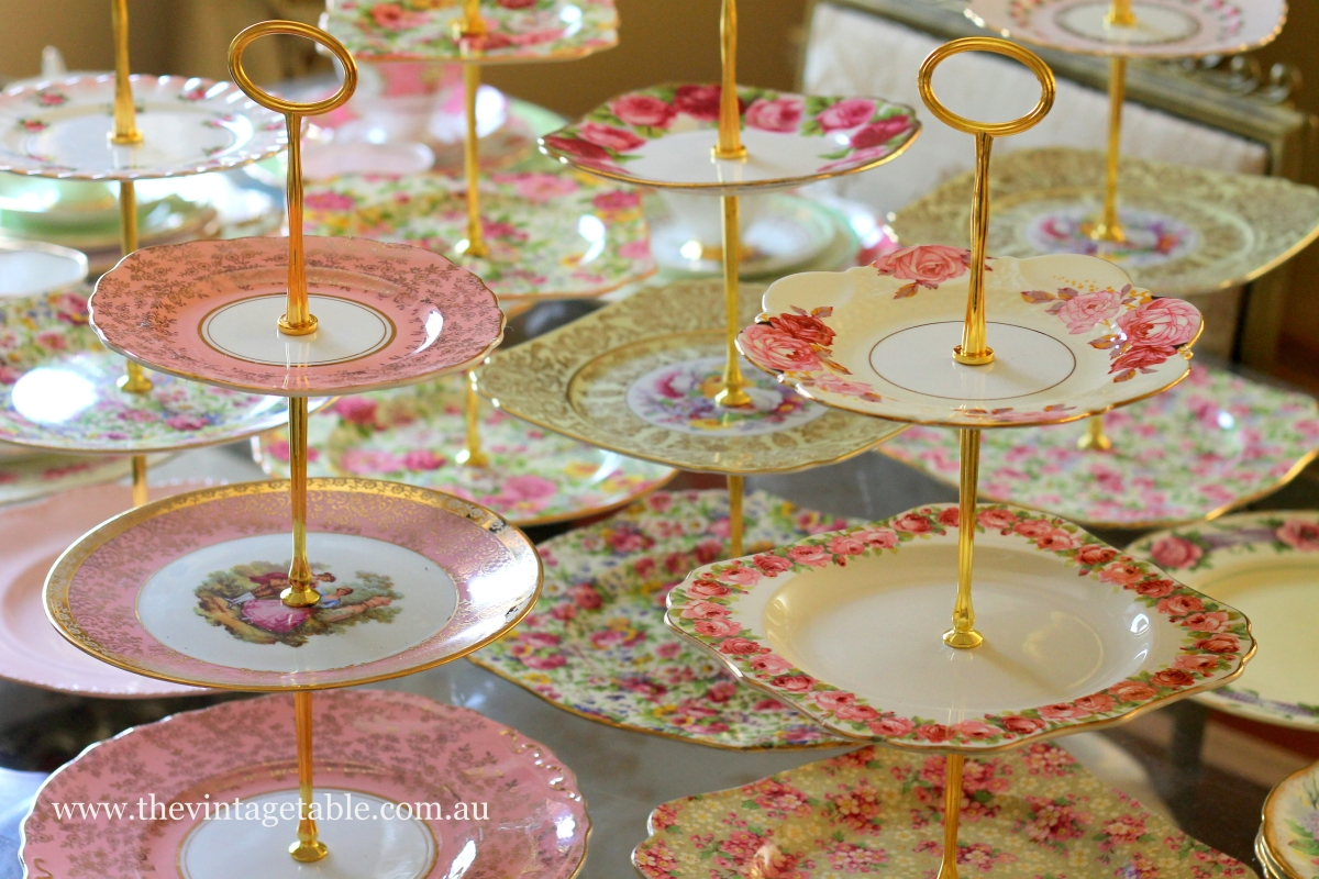 Serving High Tea Cake Stands The Vintage Table
