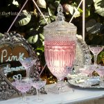 Cut Glass Drinks Dispenser | Vintage Champagne Coupe Glases & Silver Trays