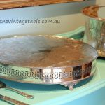 Vintage English Silver Wedding Cake Plateau 40cms diameter ~ $80 plus bond