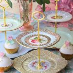 Premium Two Tier Cake Stands ~ Vintage Bone China Plates ~ $12